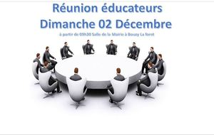 Réunion Educateurs